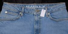 M&S Collection BNWT Relaxed Slim Fit Blue Stretch Jeans Cost 26 10 27L