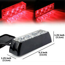 Red 4W 4LED Warning Grille Hazard Emergency Beacon Flash Strobe Signal Light