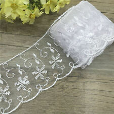 5 Yard Net cloth Lace Embroidered Fabric Sewing Applique Trim Multicolor HB04
