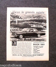 O462 - Advertising Pubblicità -1963- BUICK, GENERAL MOTORS