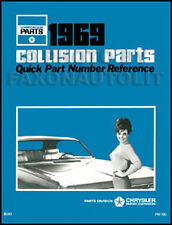1969 Chrysler Body Parts Book Imperial 300 New Yorker Newport LeBaron Collision