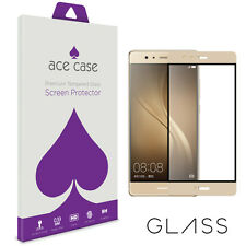 Huawei P9 Screen Protector Tempered Glass Shield - FULL CURVED COVERAGE - Gold