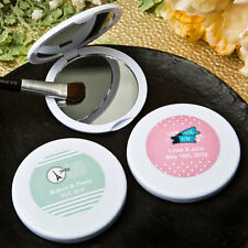 60 Personalized Wanderlust Theme Compact Mirror Bridal Shower Wedding Favors