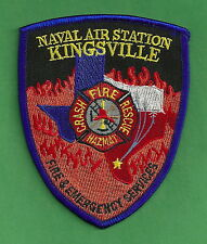 KINGSVILLE NAVAL AIR STATION TEXAS FIRE RESCUE PATCH