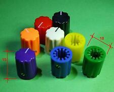 2  MANOPOLE KNOBS  per Potenziometri Rotativi  amplificatore effetti mixer