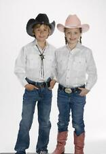 NEW! KIDS CHILDS Western Show Shirt Black Red Royal or White S M L XL