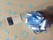 Cellophane gift wrap 2m x 80 cm-Blue Baby Boy FREE PULL BOW & CARD