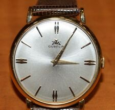 w102      18 K  GOLD '' GUBELIN '' VINTAGE  WRISTWATCH