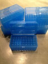 (2) 243 308 7.62x39 22-250 6mm 30 30 300 BLUE BERRYS AMMO BOX 50 ROUND MPN 409