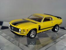 1970 Ford Mustang  Yellow Mach 1 Boss 302 Tjet  Ho Scale Slot Car Custom wheels