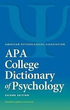 APA College Dictionary of Psychology by Gary R. VandenBos (2016, Paperback)