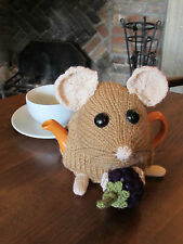 Small Sized TeaCosyFolk Dormouse Tea Cosy Knitting Pattern - Knit your own!