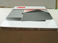 3M P600 wetordry 734 Abrasive Paper Pack (50)  Waterproof sheets  02008   01973