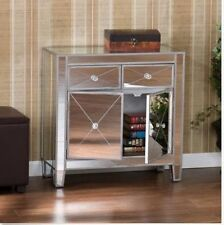 2 Drawer Chest Cabinet Mirrored Living Dining Room Hallway Storage Accent