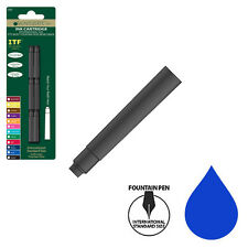 "Pk/6 Monteverde Standard International (1-1/2"") Ink Cartridges, Blue"