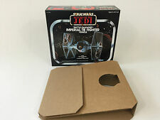 replacement vintage star wars rotj kenner battle damaged tie fighter box inserts