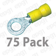 "RING TERMINAL VINYL 1/4"" YELLOW 10-12 GAUGE #108B-75PK"