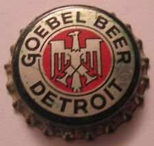 GOEBEL BEER BOTTLE CAP; 1933-40; DETROIT, MI; UNUSED CORK