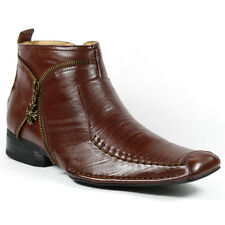 Ferro Aldo Men's Brown Dress Ankle Boots Shoes w/ Leather Lining 7 us MFA-606318