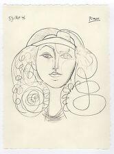"""Pablo Picasso Drawing """"Portrait of Francoise Gilot"""""""