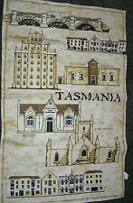 Unused Tea Towel Cotton Historical Tasmania Australia Church Port Arthur Sepia