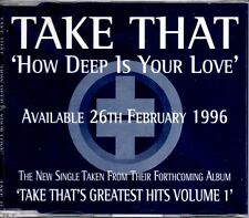 ★ MAXI CD TAKE THAT How deep is your love PROMO 1-Track jewel case  ★