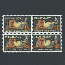 Pharmacy Stamps 43 Year Old Mint Block of 4 !