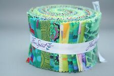 "JELLY ROLL 30 strips 2.5"" x 42"" -  GREEN Kaffe Fassett Collective"