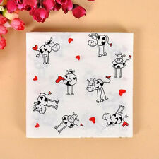 20pcs 33*33cm Cow Paper Napkins,100% Virgin Wood Napkin