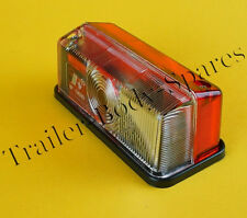 FREE 1st Class Post Red & Clear Outline Marker Lamp Light for Horsebox Trailers