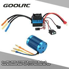 GoolRC 3650 4370KV 4P Brushless Motor & 45A ESC for 1/10 Off-road RC Car L6T2