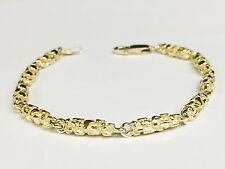 """14k Solid Yellow Gold Nugget Chain/Bracelet 4.5 MM 22 grams 8.5"""""""