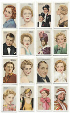 (16) 1934 Gallaher Screen & Stage cigarette cards