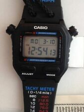 Casio VINTAGE OROLOGIO WATCH Sw-200 SW200 SW 200  NEW WRIST/NECK BLACK COM