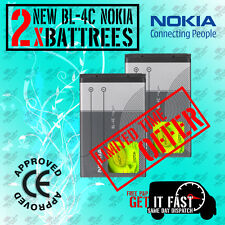 100% New Genuine 2 X BL4C Battery For Nokia 6300 2650 2652 3500 5100 6100