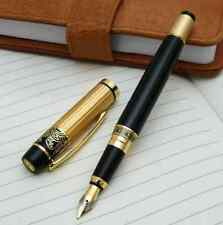 New 901 Hero Fountain Pen Meduim Nib Metal Plastic Golden Black Color Sign Pens
