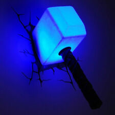 Thor Hammer Night Light The Avengers 3D Wall Art Deco Lighting Lamp Lights Gift