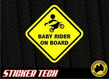 WARNING BABY MOTOCROSS DIRT BIKE FMX RIDER ON BOARD STICKER DECAL SIGN PRINTED