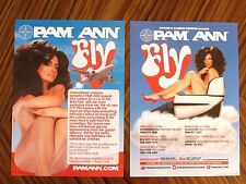 Rare Pam Ann FLY! 2013 UK Live Tour Flyers x 2  - Caroline Reid