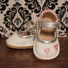 Mini Pas White w Pink Mary Jane Girl Squeaky Shoes, Size 2, 3, 4, 5, 6, 7, 8