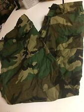 US Army Wet Weather Pants Green Camo Rain Trousers Mens Large Orc Industry