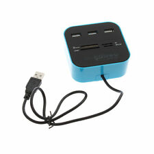 All In One Multi-card Reader with 3 ports USB 2.0 hub Combo for MMC/M2/MS IB