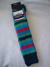 Fluffy Knee High Socks One Size (36-42) Blue, Green, Pink - was £4.99 by Shires