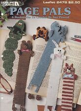Page Pals, Leisure Arts Crochet Pattern Booklet 2478 Animal Character Bookmarks