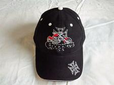 CHOPPER AND IRON CROSS EMBROIDERED BASEBALL CAP