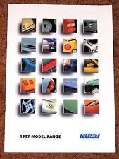 1997 FIAT BROCHURE GAMMA Inc BARCHETTA COUPE PUNTO CABRIO & GT CINQUECENTO Nuovo di zecca