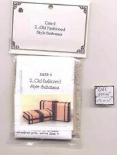Kit - Old Wooden Suitcases - dollhouse miniature 1/12 scale CATS-1 - USA