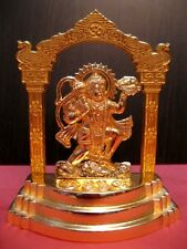 Lord HANUMAN Hindu God Metal Gold Plated STATUE MANDIR Figurine Puja Monkey~4""