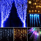 Icicle Hanging Snowing Curtain Lights Window Fairy Christmas LED String Wedding