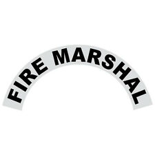 Fire Marshal Black Helmet Crescent Reflective Decal Sticker